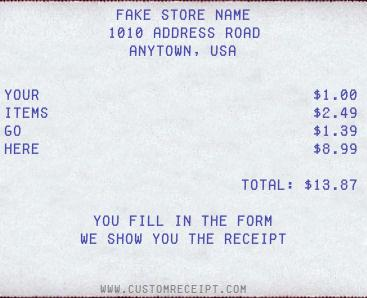 Custom Receipt Maker   Free Invoice Maker  Create Receipts Free