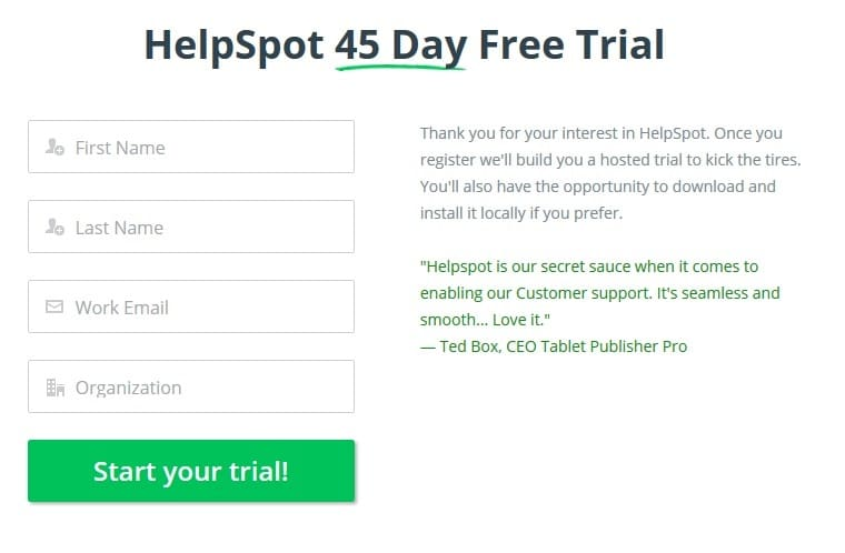 HelpSpot - HelpDesk Software 45-Days Free Trial