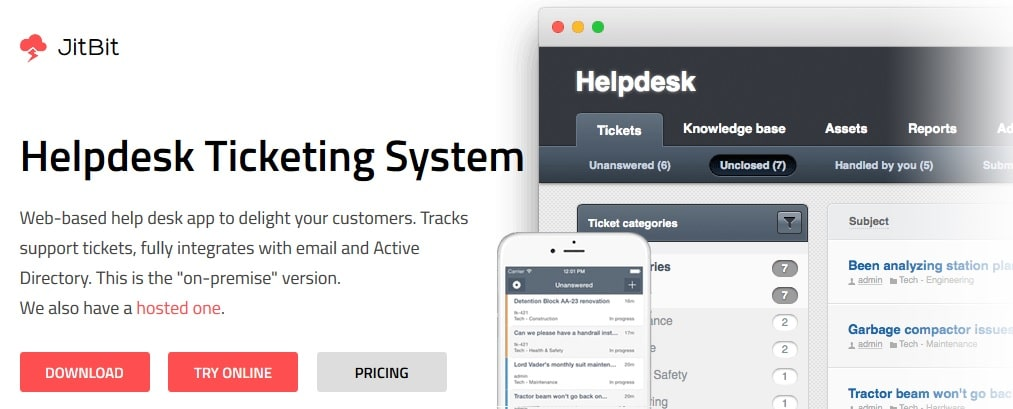 JitBit - Powerful Online Ticket Tracking and Premium Ticket Support System