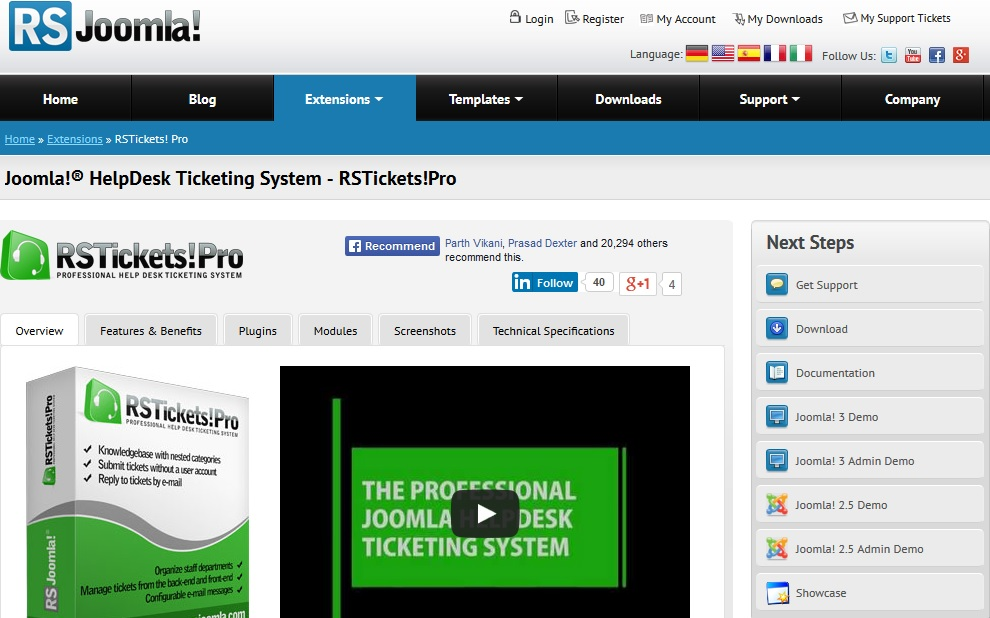 RS Ticket Pro - Best Ticket System for Joomla CMS