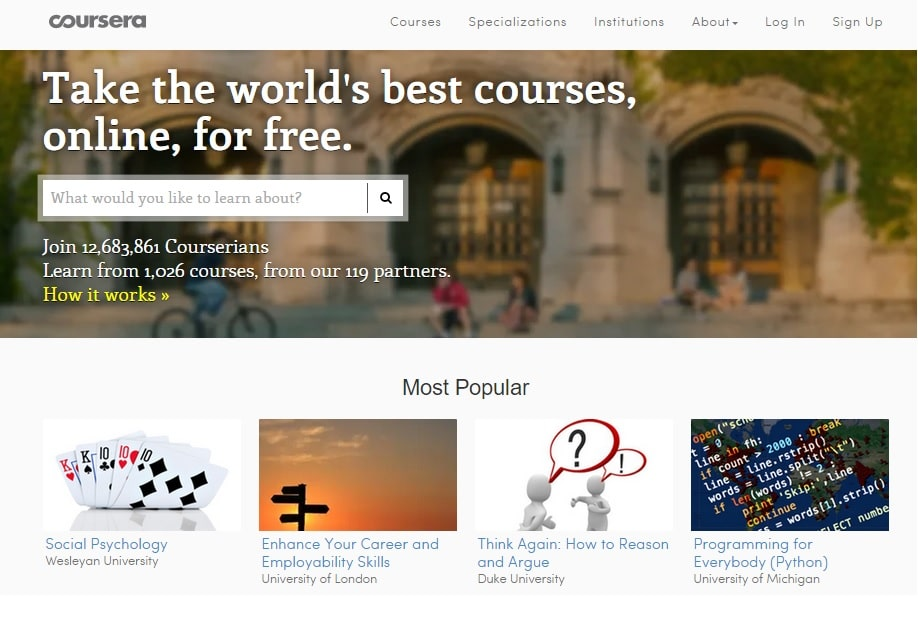 Coursera - Learn Programming and Coding Skills Quickly Online for Free