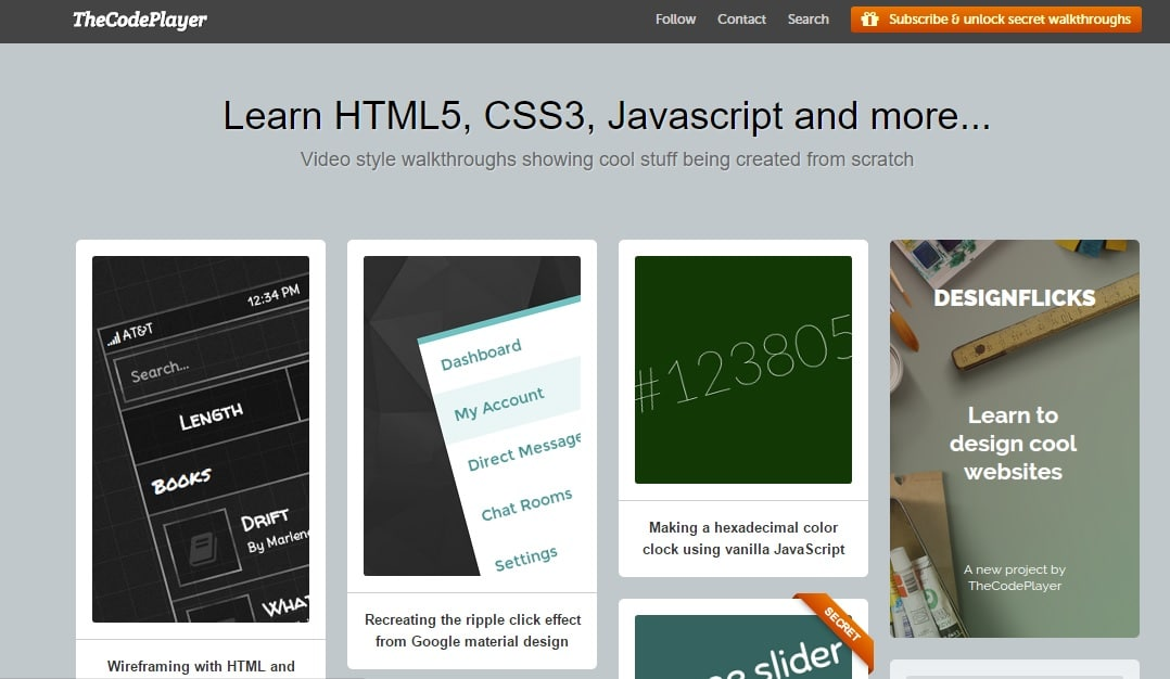 TheCodePlayer - Learn HTML5 CSS3 and Many More Coding Stuffs Online