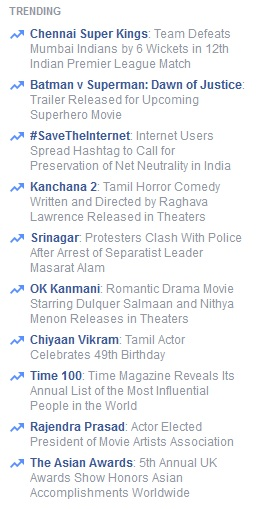 Trending on Facebook - Sharing the Smart Way