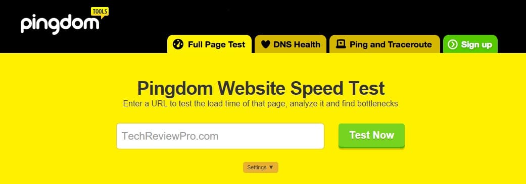 Pingdom Tools - Free Website Loading Speed Test Tool
