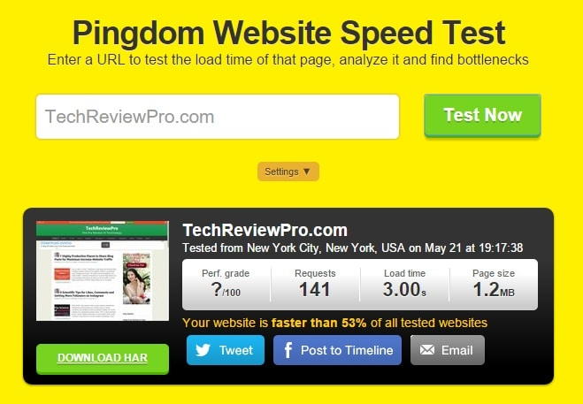 Pingdom Website Loading Speed Test Tools and Website Monitoring Service