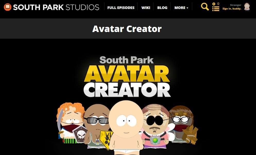 South Park Studios - Create South Park Avatar - Free Cartoon Creator Web App