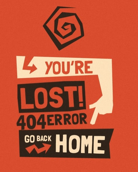 404 Error Go Back Home Animated