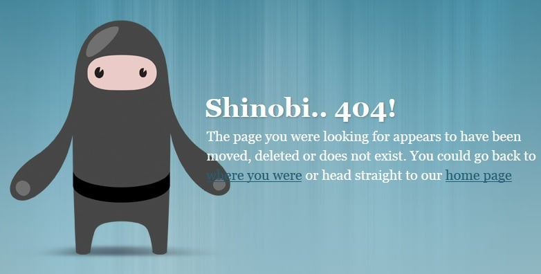 404 Error - Page Doesn't Exist