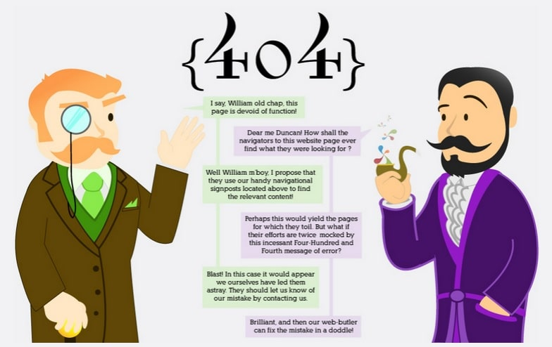 404 Error Webpage Design Inspiration
