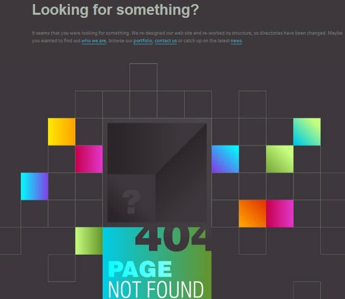 404 Page Not Found Creative Error Page