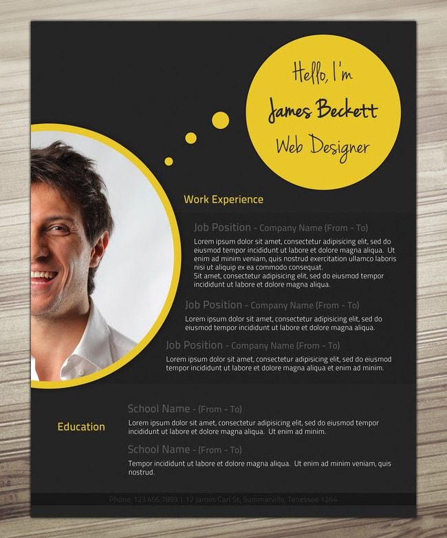 Bubbles-Resume-Template-Sample-Free-Download
