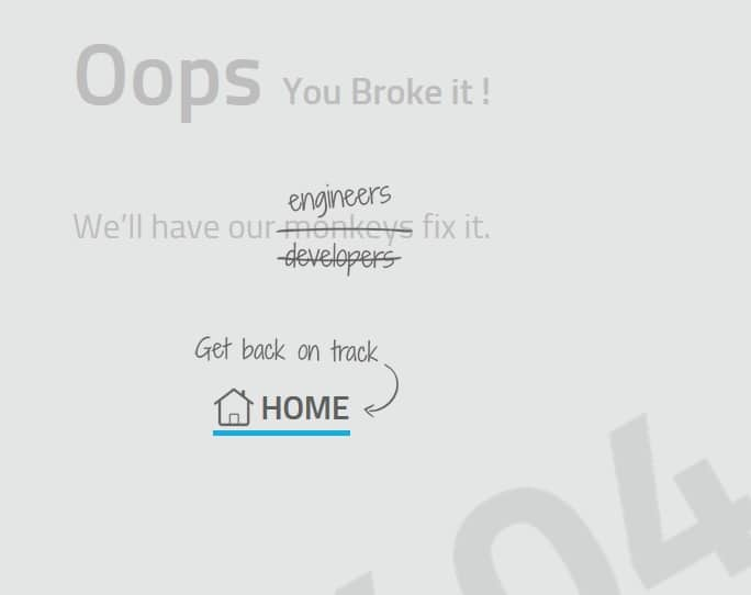 Creative 404 Error Page Design