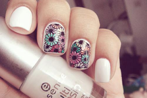 Easy-Multi-color-Nail-Designs-Short-Nails