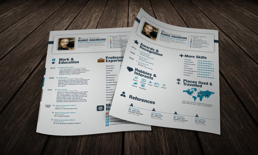 Elegant Modern Resume Template Sample