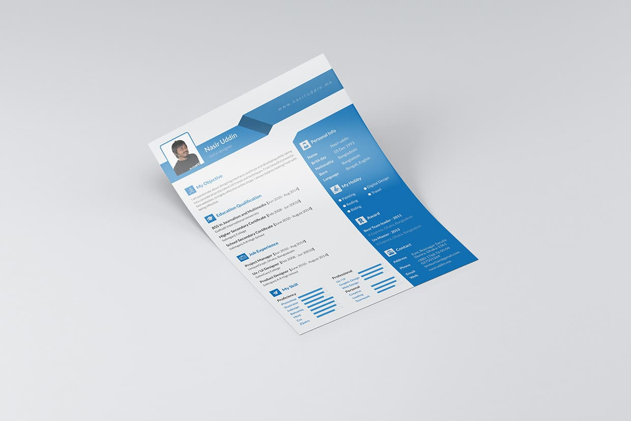 Free Graphic Design Resume Template Example