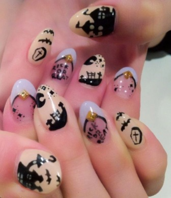 Free-hand-and-stamping-nail-designs-art
