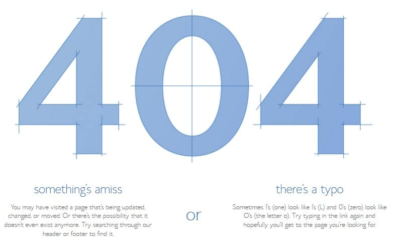 Good 404 Error Page Design