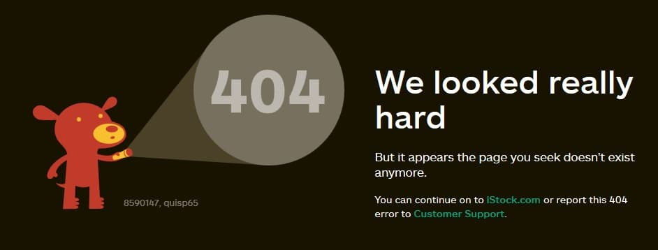 Good 404 Error Pages Design
