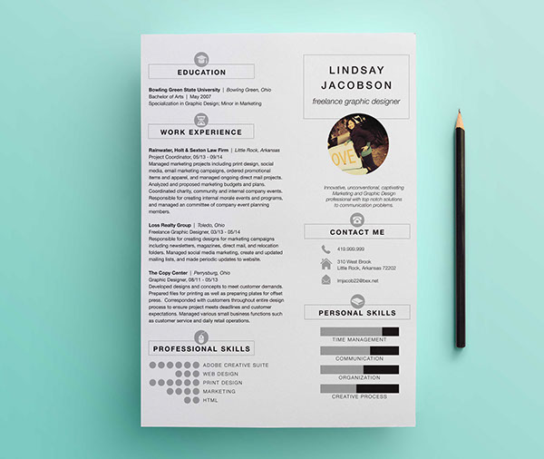 Graphic Designer Resume Template Ideas  Graphic Designer Resume Template