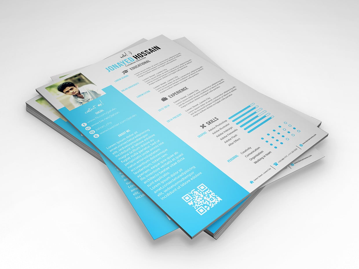 Infographic Resume CV Design Templates
