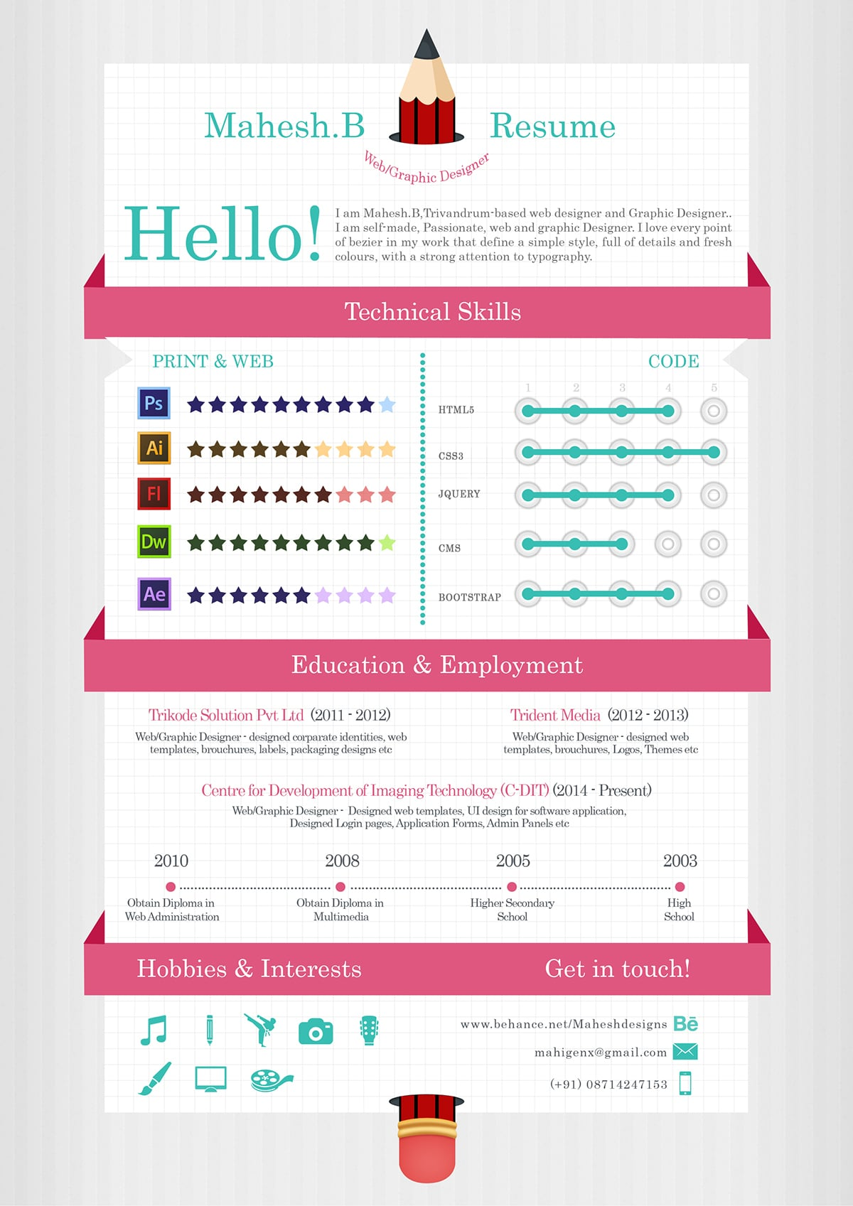 infographic resume templates free download - Resume Templates For Graphic Designers