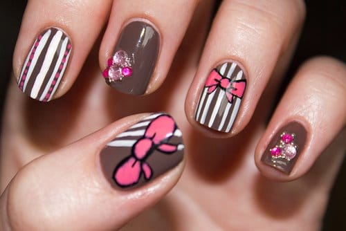 multi color nail art design ideas short nails - Nail Art Designs Ideas