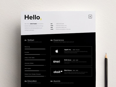 Personal Resume Design Template Sample