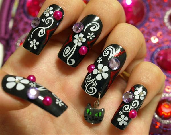 Simple-Black-Nail-Art-Designs-Ideas-For-Beginners
