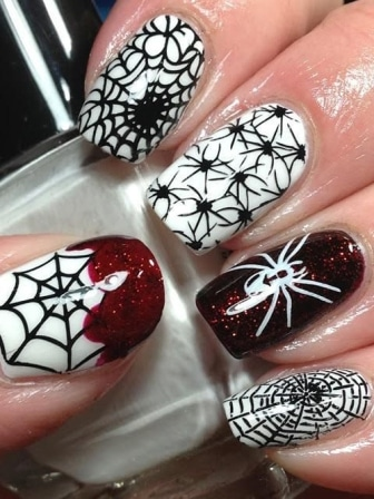 Web-and-spiders-nail-designs-art-ideas