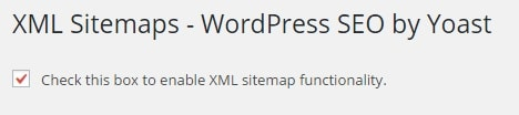 XML Sitemap Generation Settings in WordPress SEO by Yoast