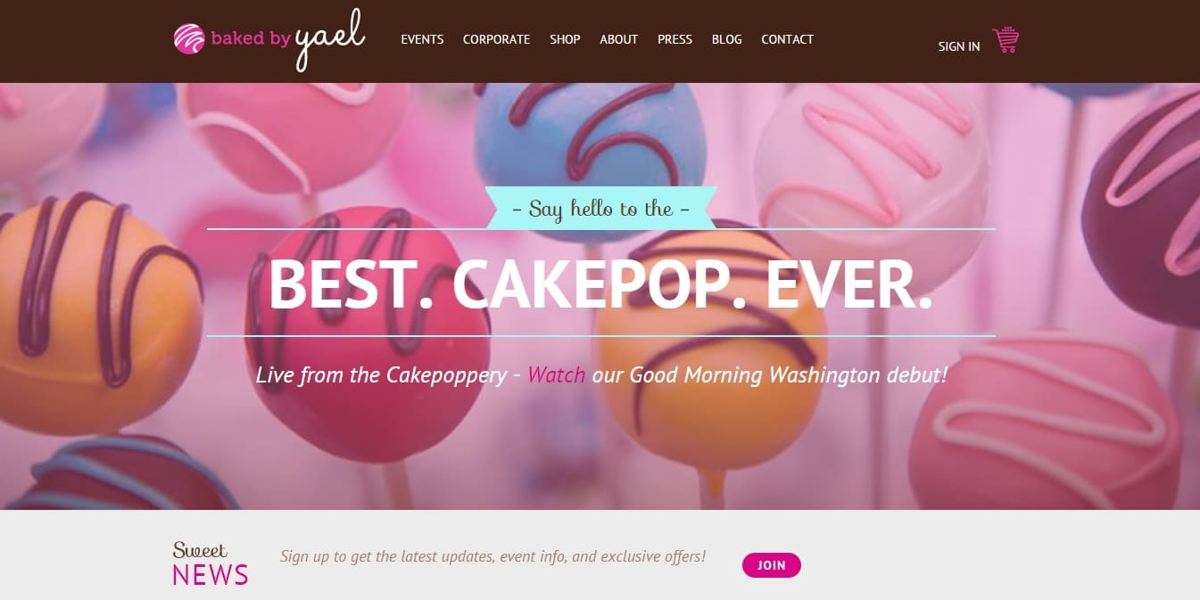 bakery websites - Web Page Design Ideas