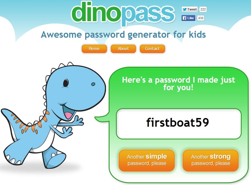 DinoPass - Awesome Password Generator for Kids
