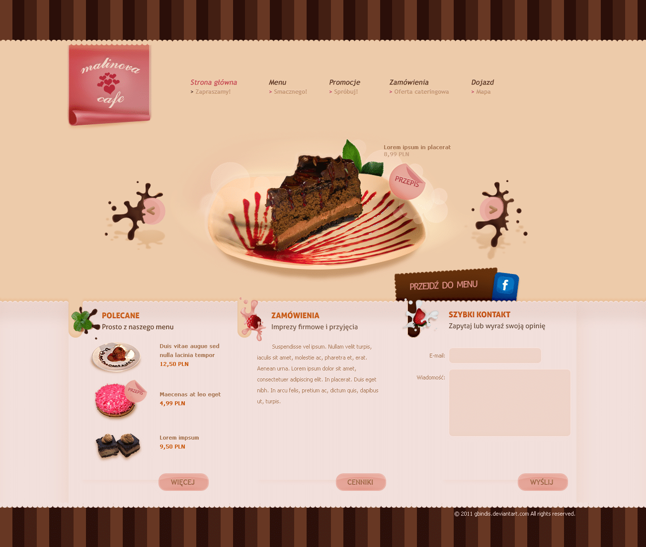 Malinova Cafe - Bakery and Coffe Websites Design Inspiration