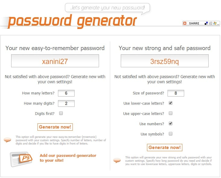 New Password Generator - Free Online Tool to Generate New Safe Passwords