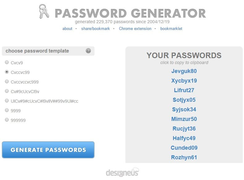 Pronounceable Password Generator - Generate Very Secure Password Online
