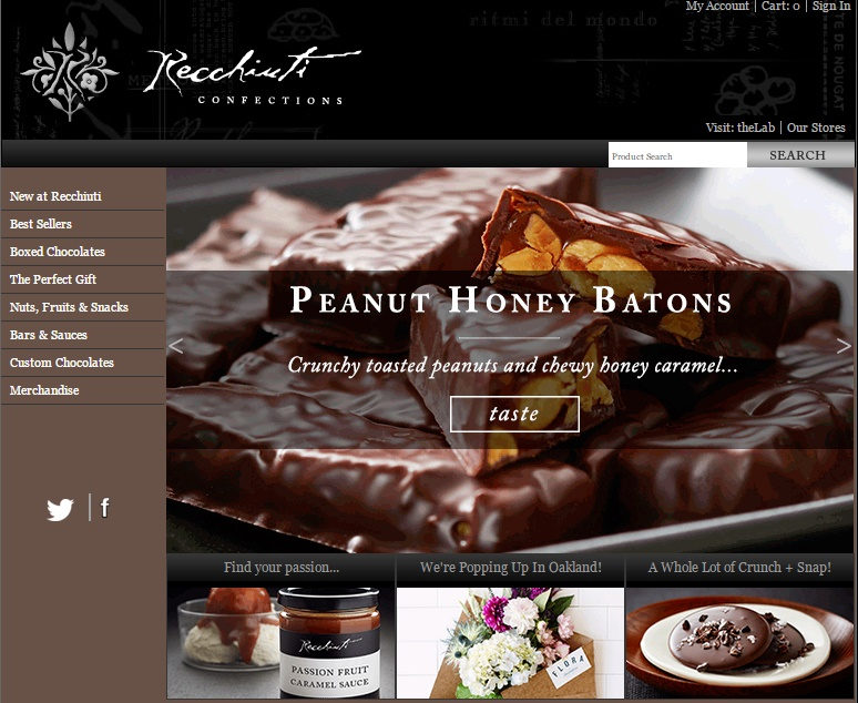 Recchiuti Chocolate Websites Design Ideas
