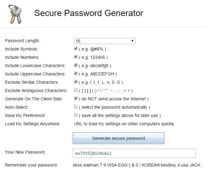 Secure Password Generator - Strong Random Password Generator