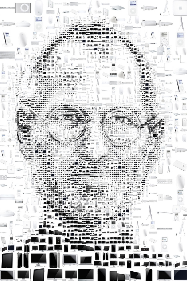 steve jobs, iphone background