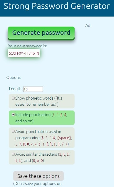 Strong Password Generator - Secure Password Generator Online