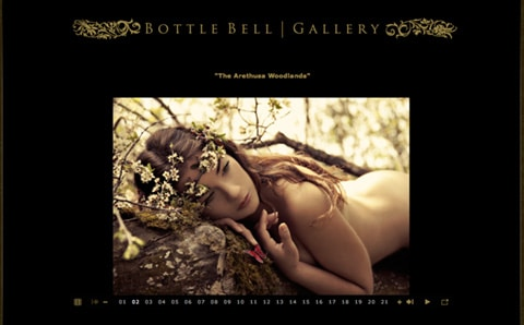 Bottle Bell Photography Website Design Ideas for Photographer Portfolio