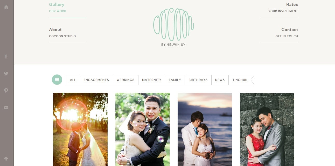 Cocoon Studio Photography Website Design Ideas for Portfolio