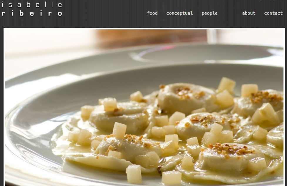 Food Photograher Website Portfolio Design Idea for Inspiration