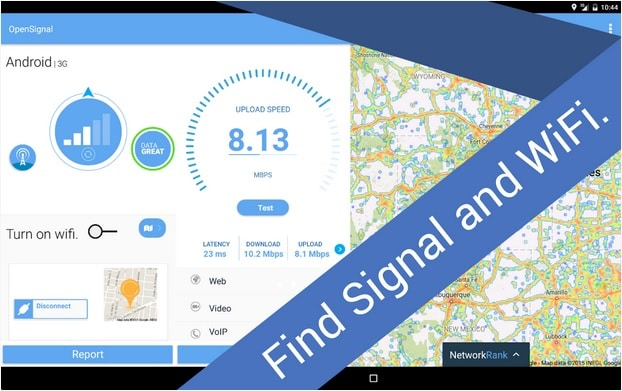 Open Signal Wifi Map and Speed Test Free Android Wifi App - Best Android Wifi Hotspot Finder App