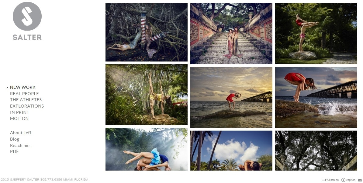 Salter Photography Website Portfolio Design Ideas for Photographer