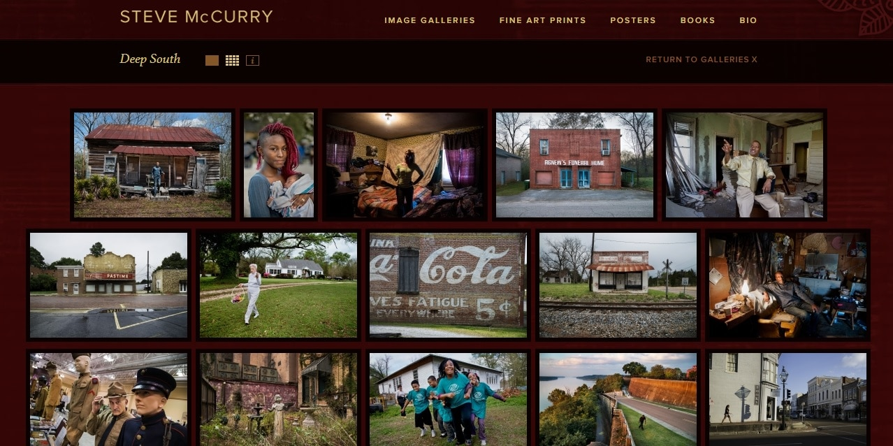 Steve McCurry Photography Website Portfolio Design Ideas