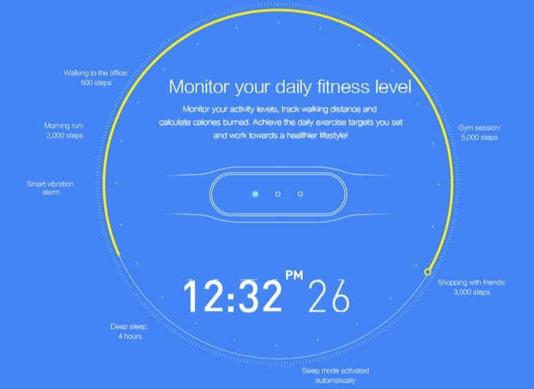 Smart Band Smart Bracelet health tracker Gearbest Xiaomi band
