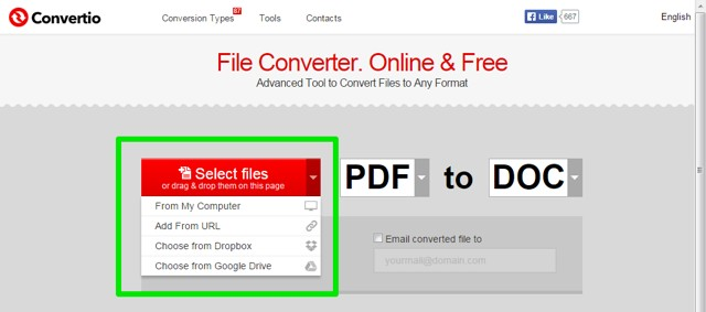 Adding Files to Convert PDF to Word Online for Free