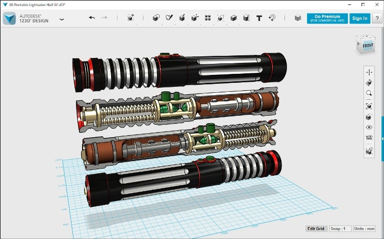 Autodesk 123D - best free 3d modeling software for 3d printing - 3d modeling software free