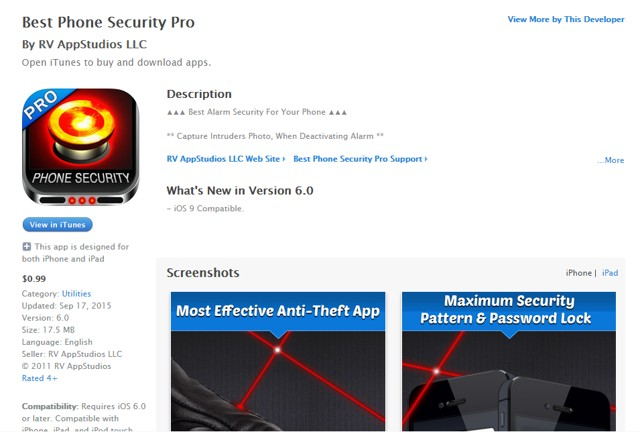 Best Phone Security Pro: Password protect iPhone - secure iPhone with Best Security App for iPhone