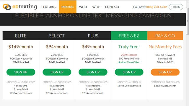 EZ Texting: send mass SMS for free - Top Cheapest SMS Text Marketing Services
